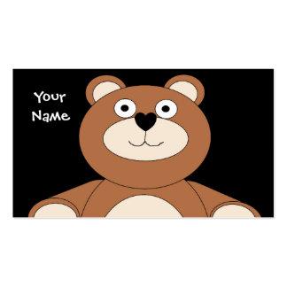 Tarjeta de visita del oso de peluche