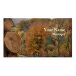 Tarjeta de visita del otoño de la silvicultura