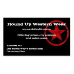 Tarjeta de visita del país occidental:: Insignia r