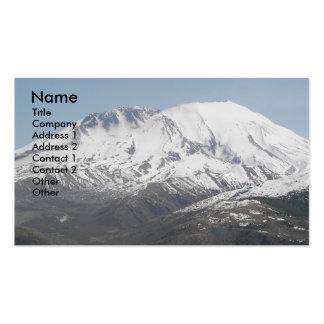 Tarjeta de visita del paisaje del volcán del Monte