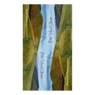Tarjeta de visita del paisaje/marca de libro corte