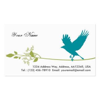 Tarjeta de visita del pájaro (blanca)