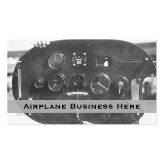 Tarjeta de visita del panel de control de la aviac
