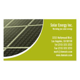 Tarjeta de visita del panel solar