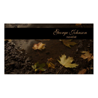 Tarjeta de visita del pantano del otoño