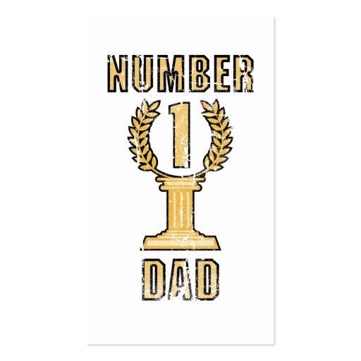 Tarjeta de visita del papá del número 1