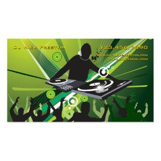 Tarjeta de visita del Partido Verde de DJ