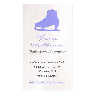 Tarjeta de visita del patinaje de hielo