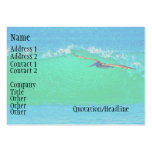 Tarjeta de visita del pelícano que practica surf