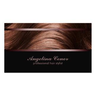 Tarjeta de visita del pelo de Brown del estilista
