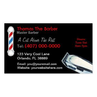 Tarjeta de visita del peluquero (cortes y estilos