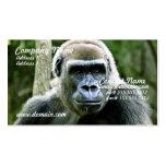Tarjeta de visita del perfil del gorila