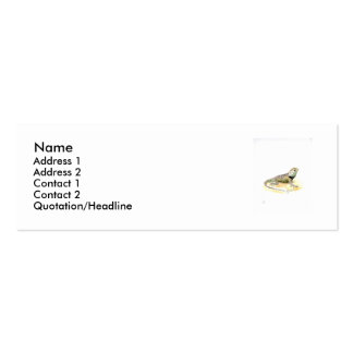 Tarjeta de visita del perfil del lagarto