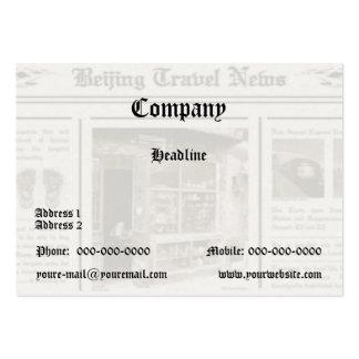 Tarjeta de visita del periódico