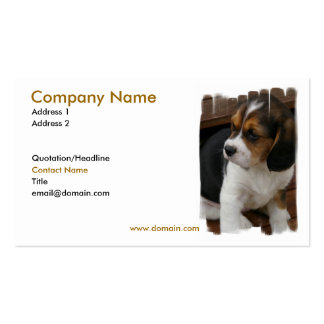 Tarjeta de visita del perrito del beagle