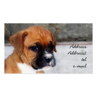Tarjeta de visita del perrito del boxeador
