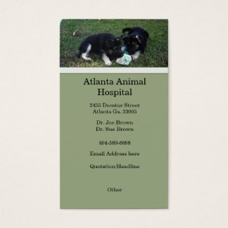Tarjeta de visita del perrito del pastor alemán