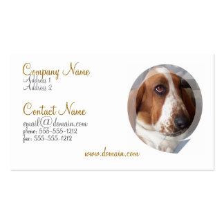 Tarjeta de visita del perro de Basset Hound