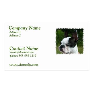 Tarjeta de visita del perro de Boston Terrier