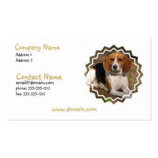 Tarjeta de visita del perro de caza del beagle