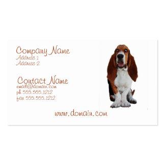 Tarjeta de visita del perro de Hond del afloramien