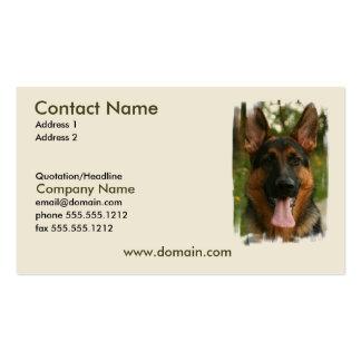 Tarjeta de visita del perro de pastor alemán
