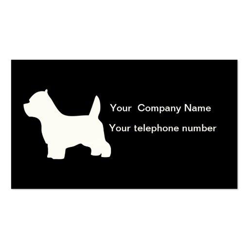 Tarjeta de visita del perro de Terrier blanco de m