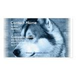 Tarjeta de visita del perro del Malamute de Alaska