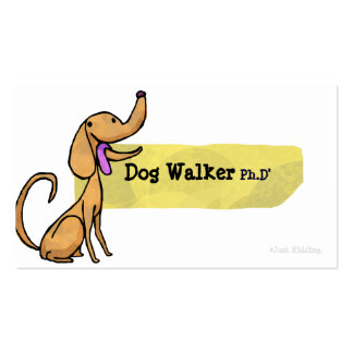 Tarjeta de visita del Ph D del caminante del perro