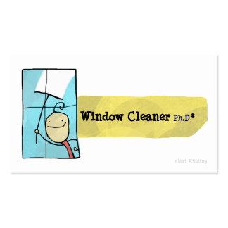 Tarjeta de visita del Ph.D del limpiador de ventan