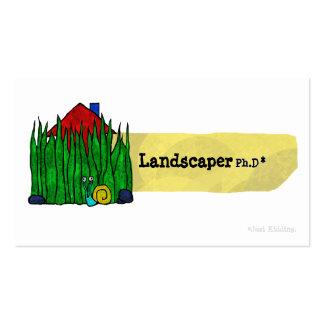 Tarjeta de visita del Ph D del paisajista