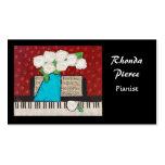 Tarjeta de visita del pianista con las flores