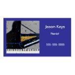 tarjeta de visita del pianista con magnífico