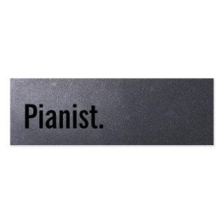 Tarjeta de visita del pianista del negro de carbón