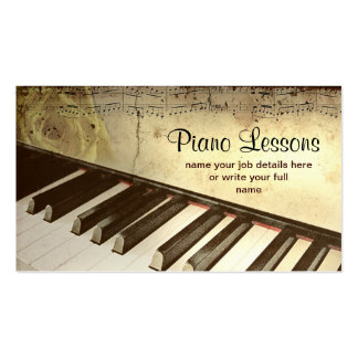 tarjeta de visita del piano
