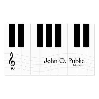 Tarjeta de visita del piano del músico