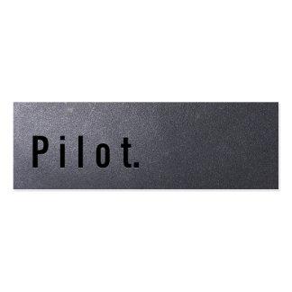 Tarjeta de visita del piloto del negro de carbón m