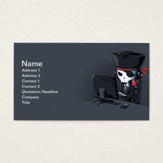 Tarjeta de visita del pirata informático del