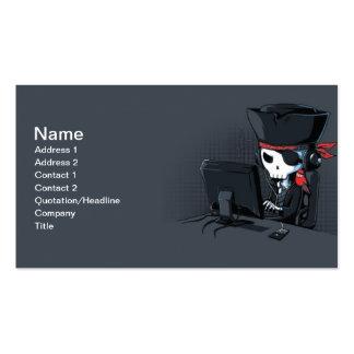 Tarjeta de visita del pirata informático del pirat