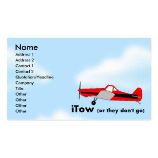 tarjeta de visita del planeador de Sailplane del i