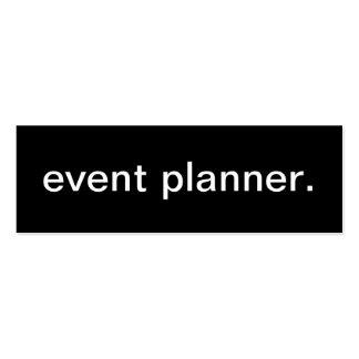 Tarjeta de visita del planificador de eventos