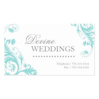 Tarjeta de visita del planificador del boda