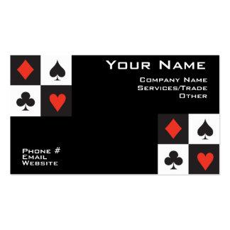 Tarjeta de visita del póker