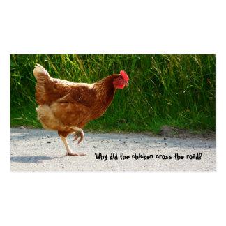 Tarjeta de visita del pollo de la travesía de cami