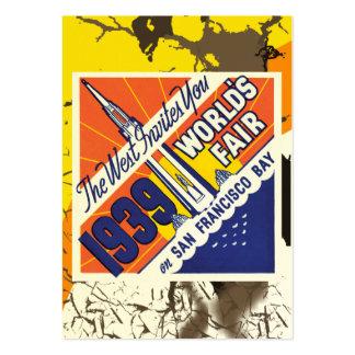 Tarjeta de visita del poster de la feria de mundos