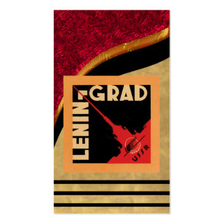 Tarjeta de visita del poster de URSS del vintage