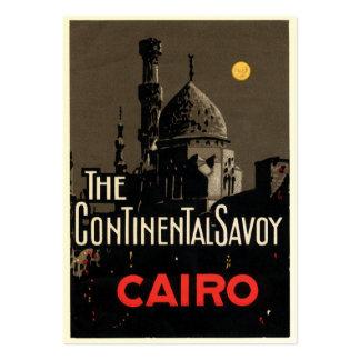 Tarjeta de visita del poster del hotel de El Cairo