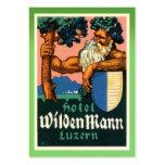 Tarjeta de visita del poster del hotel del vintage