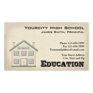 Tarjeta de visita del principio del educador de la