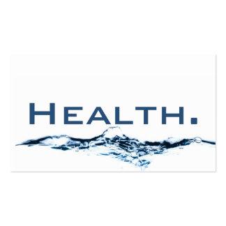 Tarjeta de visita del profesional de salud H2O